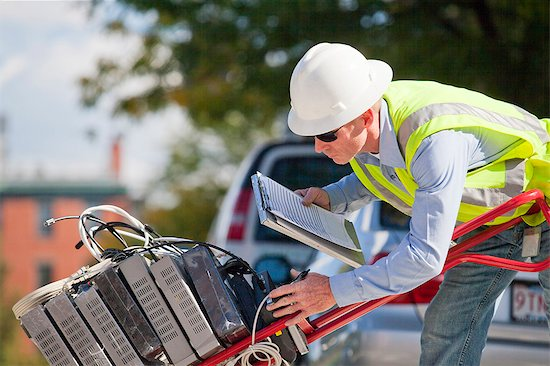 cable technician performing quality check