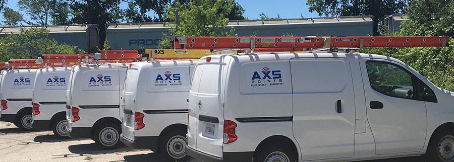 AXS Points fleet trucks